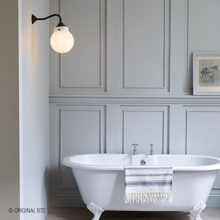 Make sure to add character to your bathroom. Davey Lighting's #Hampton Wall Light is a true piece of heritage. #lightingdesign #marine #glass #lighting #daveylighting #originalbtc