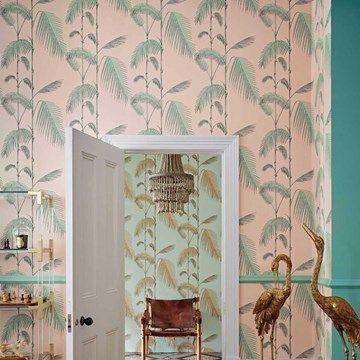 Engelska Tapetmagasinet - tapeter - Cole and Son - Palm Leaves - rosa