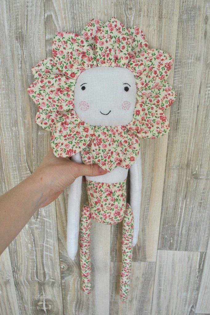 мягкая игрушка цветок из 100% хлопка