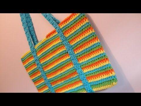 ▶ Crochet Spiral Beach Bag Crochet Tutorial - YouTube