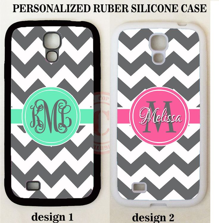 GREY CHEVRON MINT PINK MONOGRAM PHONE Case For Samsung Galaxy S7 S6 S5 NOTE 7 5 #UnbrandedGeneric