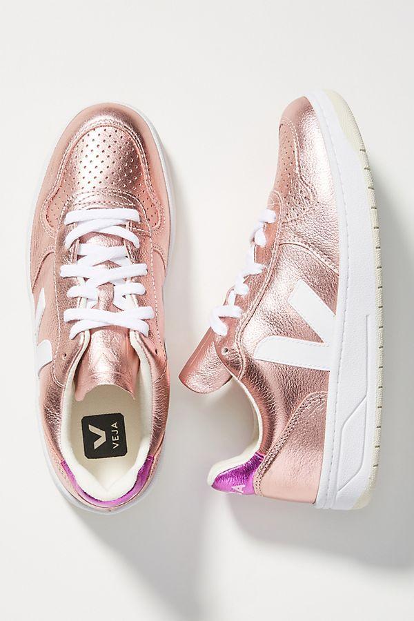 Veja V 10 Metallic Sneakers Metallic Sneakers Spring Shoes Women Sneakers