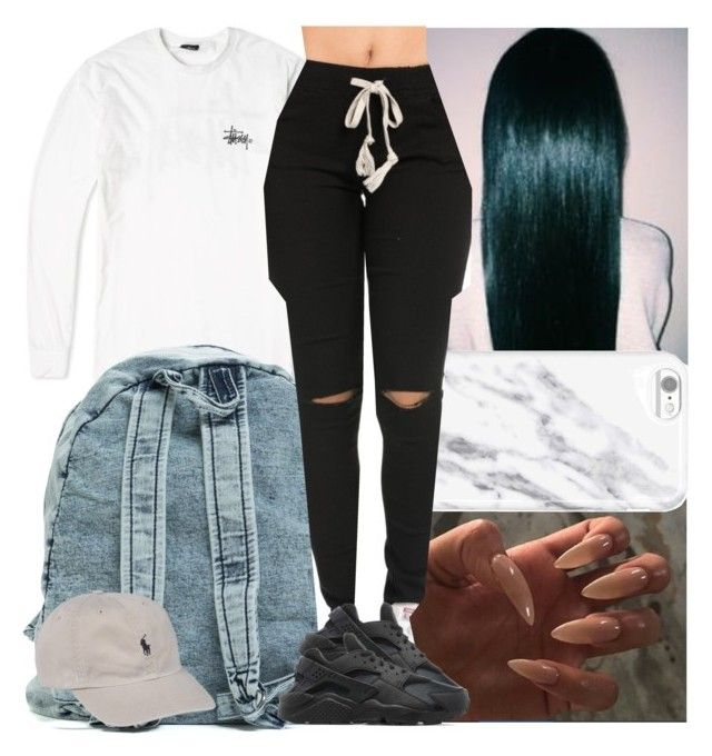 """Untitled #588"" by msixo ❤ liked on Polyvore featuring Stussy, NIKE and Ralph Lauren"