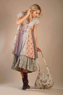 Nadir Positano clothing. I love the patchwork look on the skirt and then the petticoats underneath.