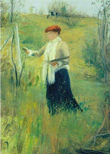 At the open air, 1892, Pekka Halonen. Finnish (1865 - 1933)