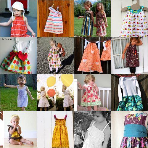 Easy to make baby, toddler girl dresses