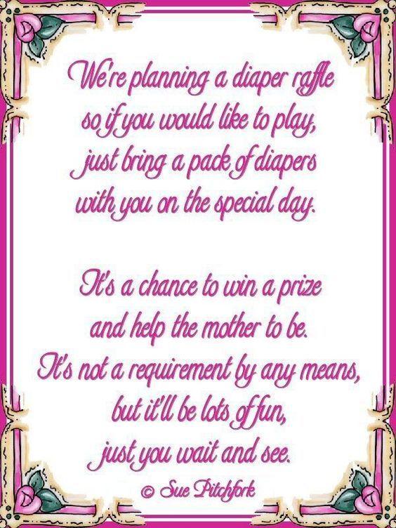 diaper wishing well poem | Poem: diaper raffle baby shower invitation (w/printable):