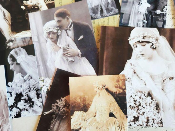 50 Vintage Victorian Bride Ephemera Image Scrapbook Paper