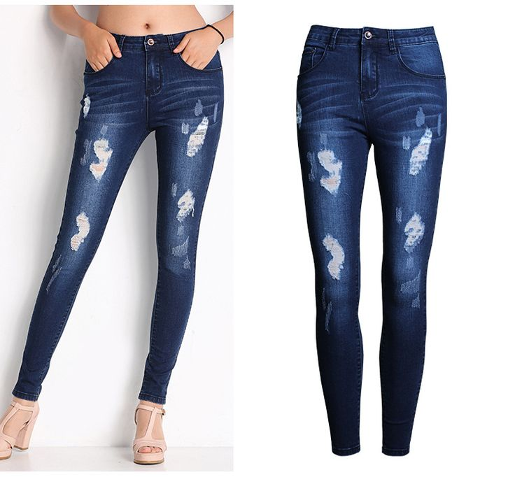 Find More Jeans Information about 2053 New 2015 Hot Fashion Ladies Cotton Denim Pants Stretch Womens Bleach Ripped Skinny Jeans Denim Jeans For Female,High Quality jean,China jeans custom Suppliers, Cheap jean jacket short sleeve from Caton AtoZ Co.,Ltd. on Aliexpress.com