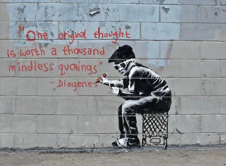 Banksy: Street Artists, Outdoor Art, Inspiration, Canvas Prints, Quote, Originals Thoughts, Banksy, Graffiti Artists, Streetart
