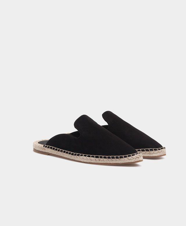 Czarne espadryle - OBUWIE - Modowe trendy SS 2017 dla kobiet na stronie Oysho: bielizna, odzież sportowa, motywy etniczne i cygańskie, buty, dodatki, akcesoria i stroje kąpielowe.