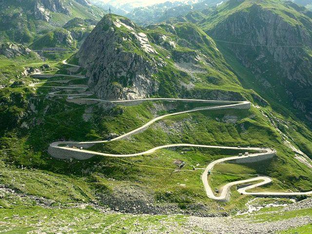 swiss alps mountain passes