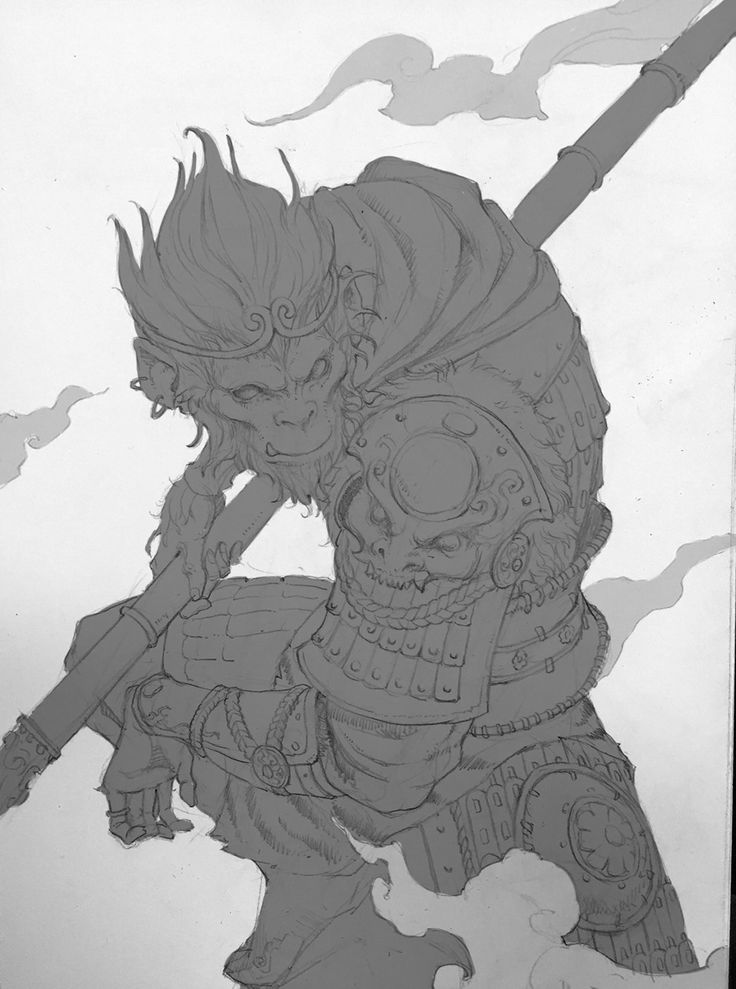 It's just an image of Invaluable Sun Wukong Drawing