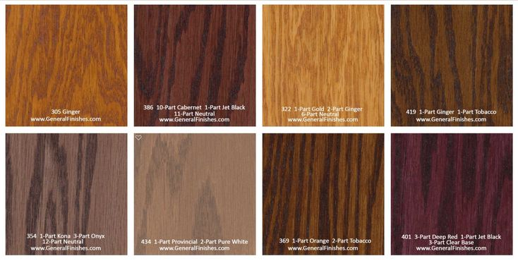 General Finishes Pro Floor Stain Color Swatch / Chart for ...