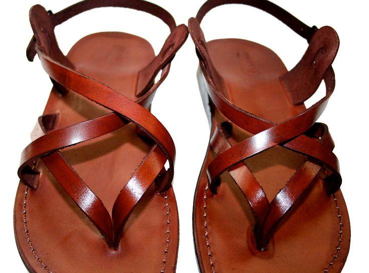 Brown Mix Leather Sandals for Men & Women - Handmade Unisex Sandals, Flip Flop Sandals, Jesus Sandals, Genuine Leather Sandals by SANDALI on Etsy https://www.etsy.com/listing/56834827/brown-mix-leather-sandals-for-men-women