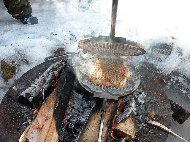 Toast in a waffel iron :) by Living in the Arctic, via Flickr