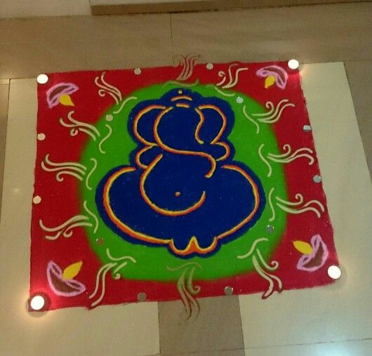 Diwali ganesh rangoli