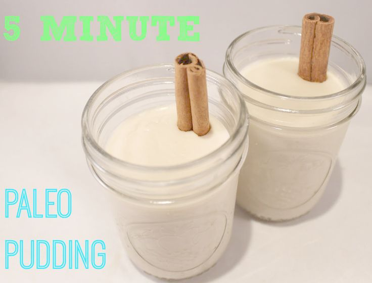 5 Minute Paleo Pudding- replace honey with Truvia and gelatin with gluc. To make THM friendly