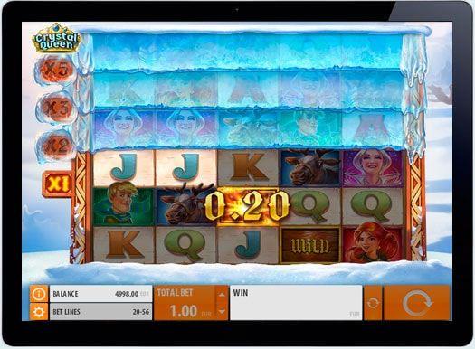 Игровой автомат Crystal Queen на деньги в казино онлайн.  Необыкновенный автомат Crystal Queen от Quickspin даст шанс игрокам не только окунуться в мир снежной зимней сказки, но и поможет играть на рублив онлайн казино. Разнообразные функции барабанов, специальные символы, а та