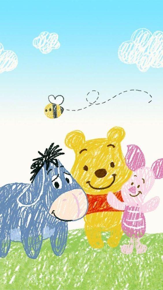 Winnie The Pooh Cartoon Friends Wallpaper