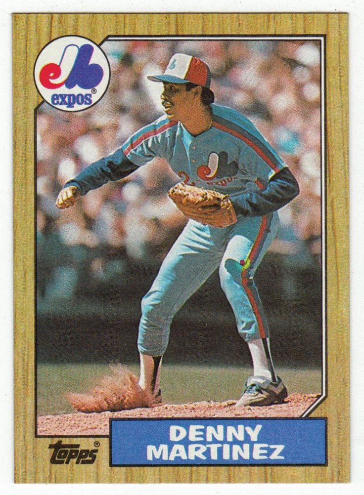 Dennis Martinez # 252 - 1987 Topps Baseball