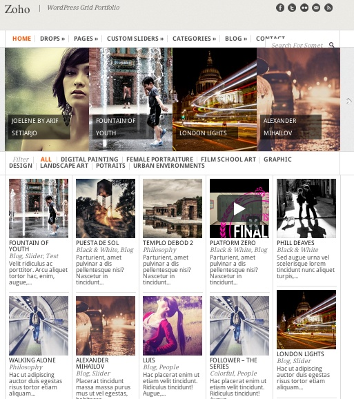 30 best Pinterest-Like Website Templates images on Pinterest - wordpress resume themes