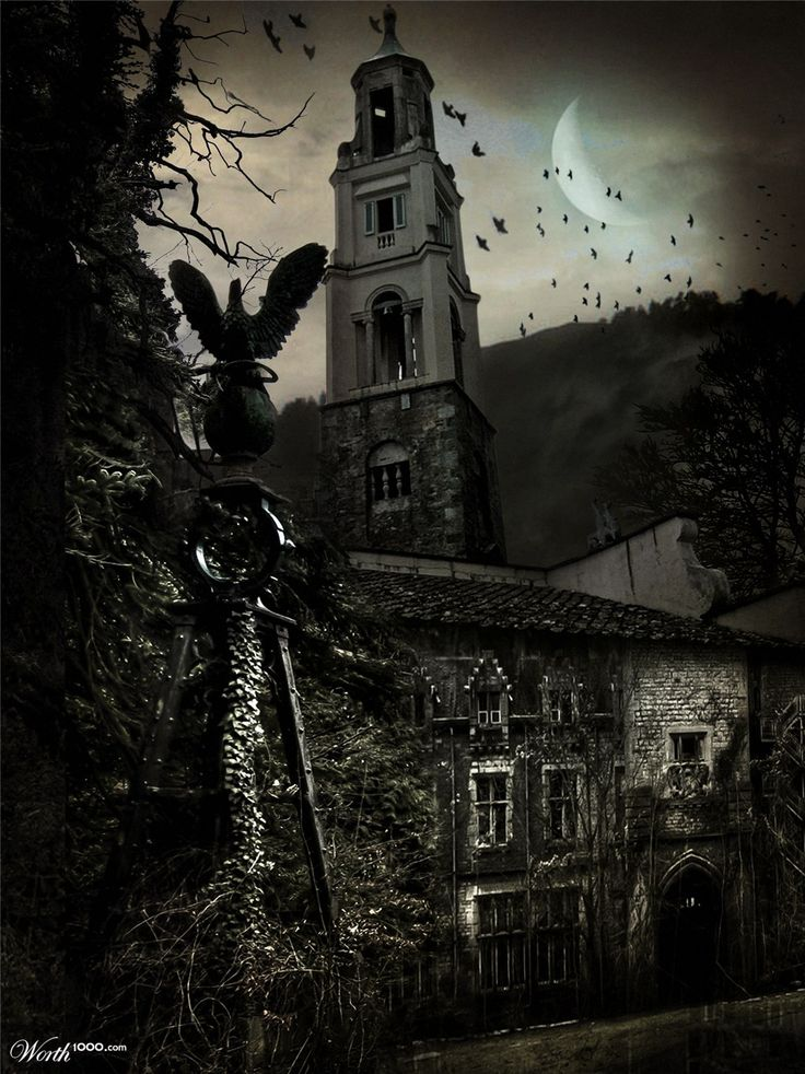 Goth:  #Goth ~ Abandoned Castle, by drhrach.