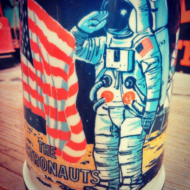 """54 Likes, 4 Comments - usednovo (@u.s.n.v) on Instagram: """"The Astronauts Vintage Thermos  #usednovo #vintage #aladdin #thermos"""""""