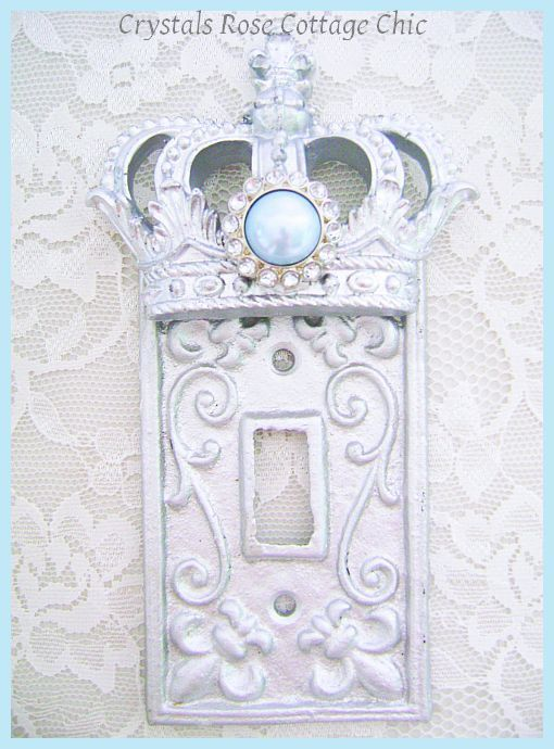 Prince / Princess Light Switch Wall Plate by sweetlilboutique