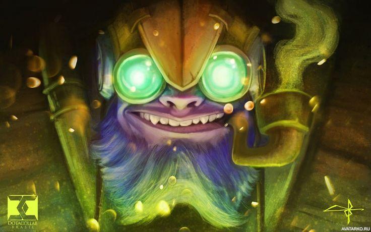 Улыбающееся лицо Tinker'а из игры Dota 2 - аватары, картинки, авы