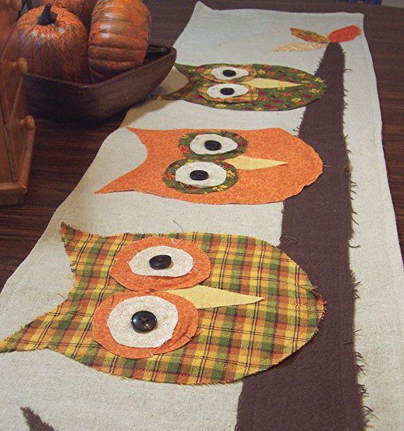 Fall Owl Table Runner