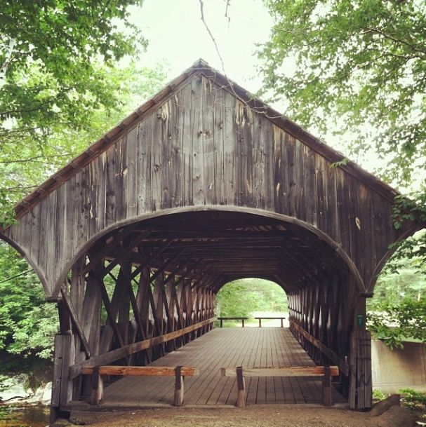 covered bridge in Newry, Maine