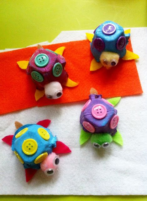 MunchkinTime: Easy Egg Carton Turtle Craft for Kids