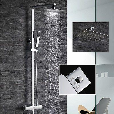 Design Set Duschkopf Duschset Duscharmatur Regendusche Duschbrause Duschsystem