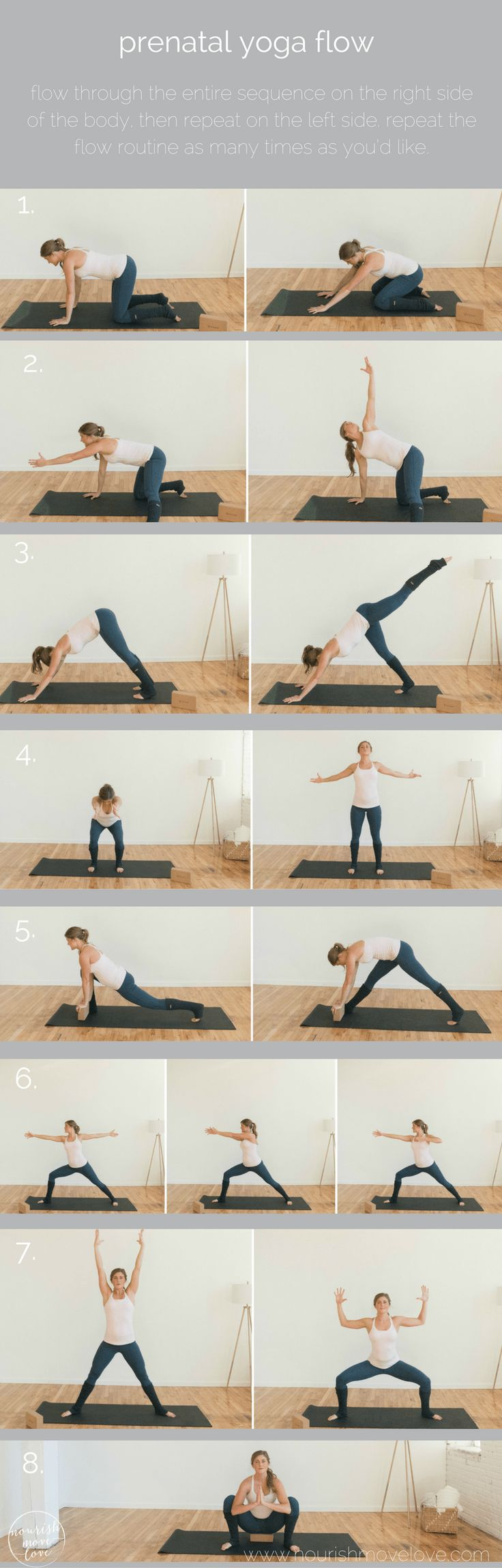 These 8 prenatal yoga poses will help you strength and tone during all three trimesters, while also stretching the tight muscles associated…