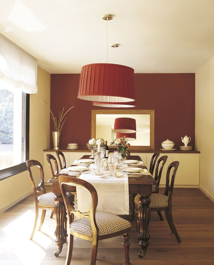 M s de 25 ideas incre bles sobre dormitorios rojos en for Comedor 2 colores