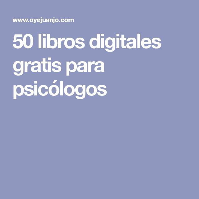 50 libros digitales gratis para psicólogos