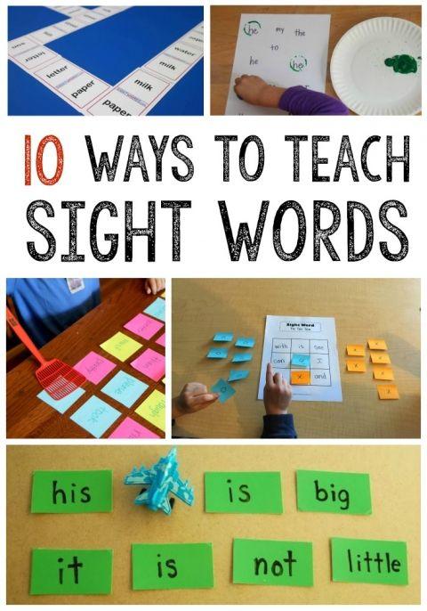 10 ways to teach sight word!