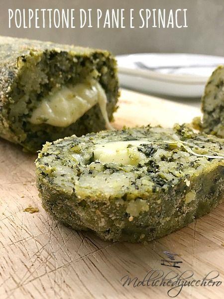 polpettone di pane con spinaci