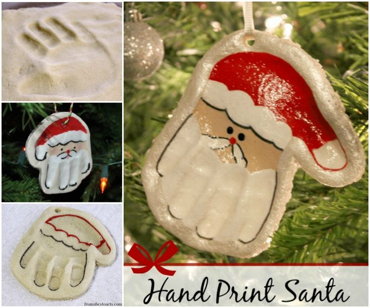 Salt Dough Santa Hand Ornament Recipe 1
