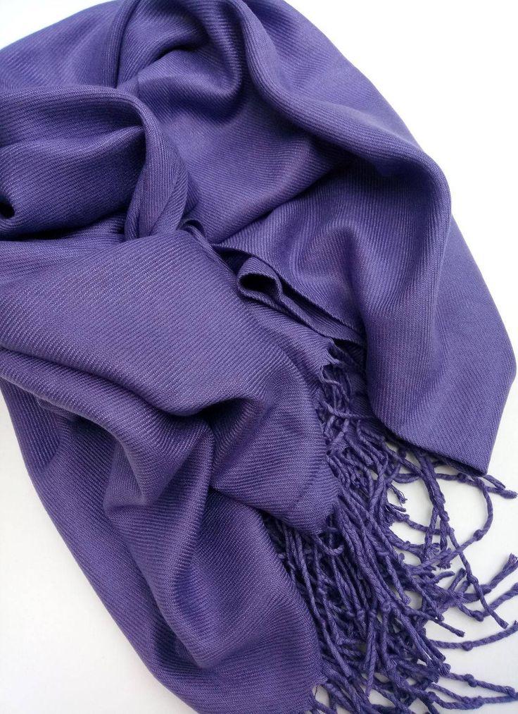 Cashmere Stole. Cashmere Scarf. Cashmere Wrap. Purple scarf. Purple Stole. Purple Scarf. Perple Wrap. by VUGASHOP on Etsy
