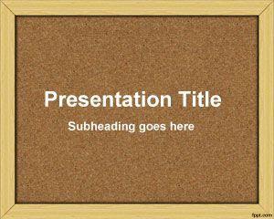Plantilla PowerPoint de Tablón de Anuncios PPT Template