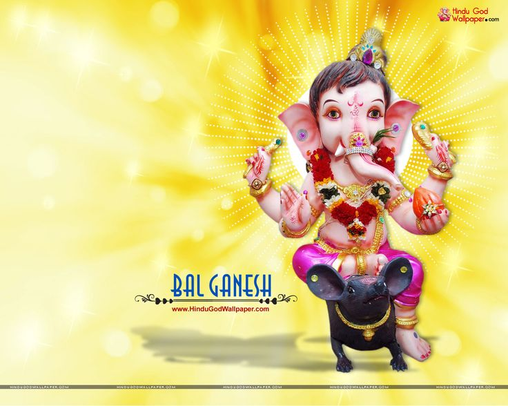 Beautiful Bal Ganesh Murti HD Wallpaper Download