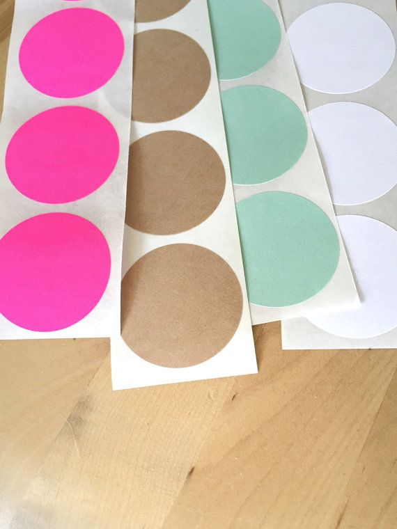 25 Sticker Dots  Choose Neon Pink, Kraft Paper, Mint Green, Bright White, or an assortment of colors.  When choosing assortment please leave me a note in the note to seller box when you check, out stating the colors you choose. If no colors are chosen, I will assume you want one of each color :)  .-.-.-.-.-.-.-.-.-.-.-.-.-.-.-.-.-.-.-.-.-.-.-.-.-.-.-.-.-.-.-.-.-.-.-.-.-.-.-.-.-.-.-.-.-.-.-.-.-.-.-.-. Listing Description...   size: 1 1/2 shape: Round quantity: 25 stickers (5 sheets of 5) ...