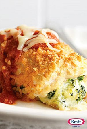 Chicken Parmesan Bundles- This easy recipe is an elegant, creative take on a classic chicken favorite