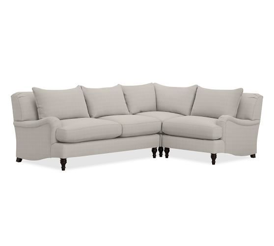 Carlisle Upholstered 3-Piece Sectional with Corner