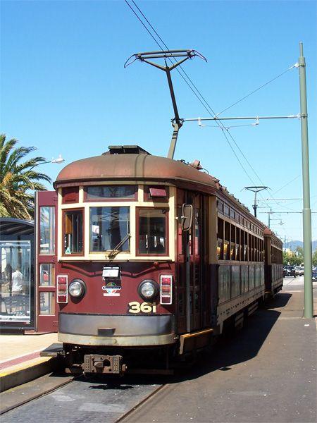 Ancient tram at Glenelg, Melbourne