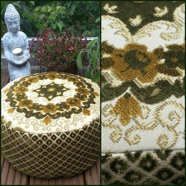 EDLES BROKAT YOGAKISSEN.MEDITATIONSKISSEN. von Donnalupinas Textilwerkstatt auf DaWanda.com