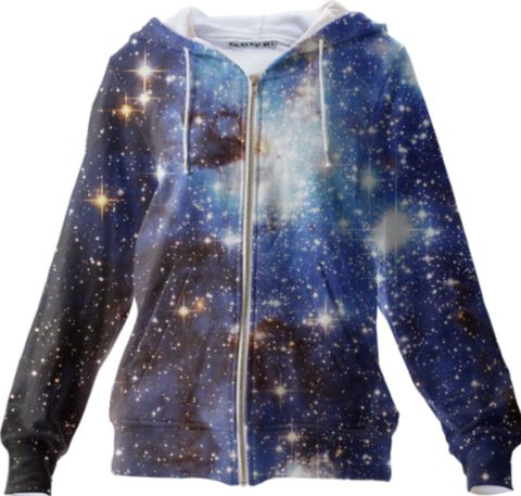 Blue Galaxy Zip Up Hoodie - Available Here: http://printallover.me/products/0000000p-blue-galaxy-13