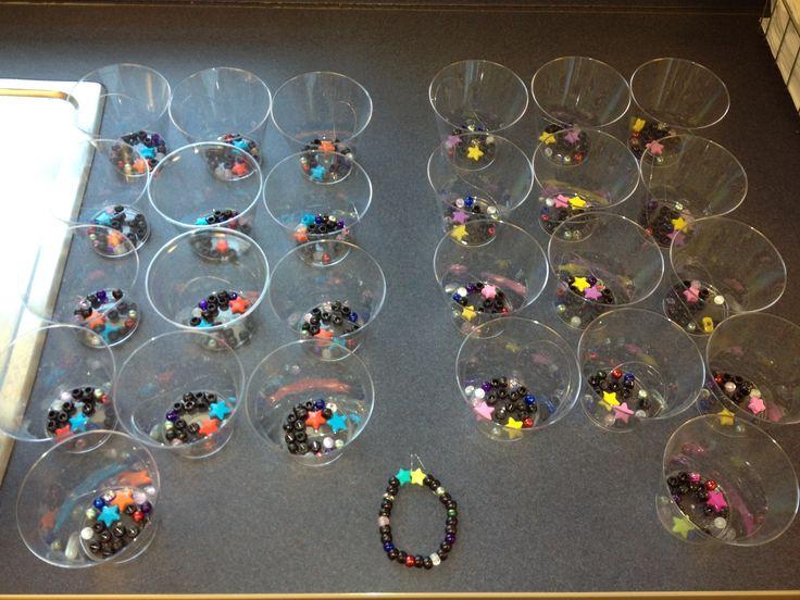 Solar system bracelets for fourth grade science class
